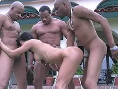 Orgy Interracial Porn - Pornstar Belladonna interracial gangbang DP. Belladonna2